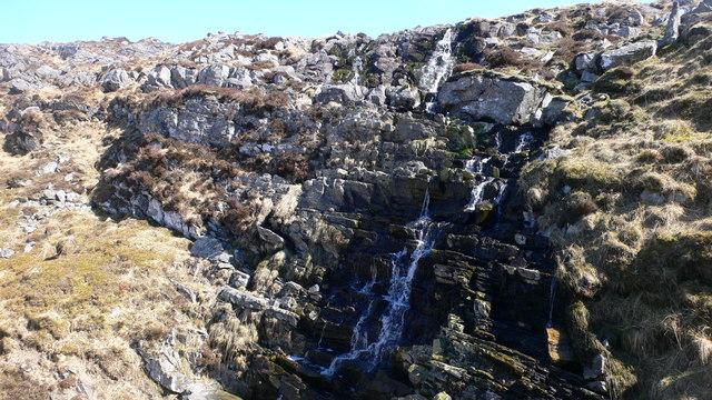 Waterfall at the head of Gleann nan Clach Reamhar