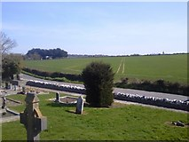 O1056 : View from Grallagh Graveyard, Co Dublin by C O'Flanagan