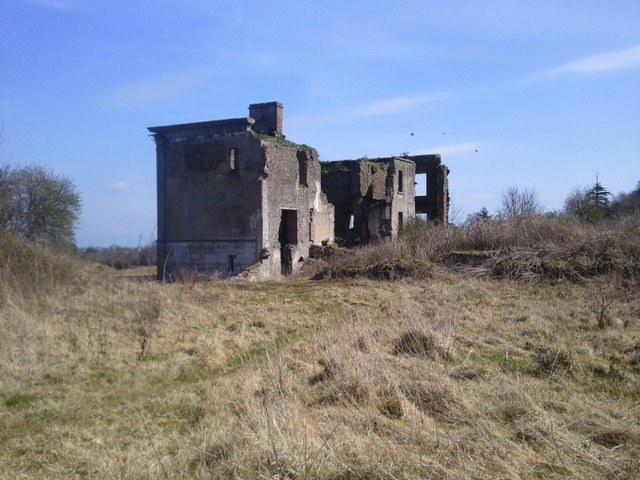 Westown House in ruins, Co Dublin