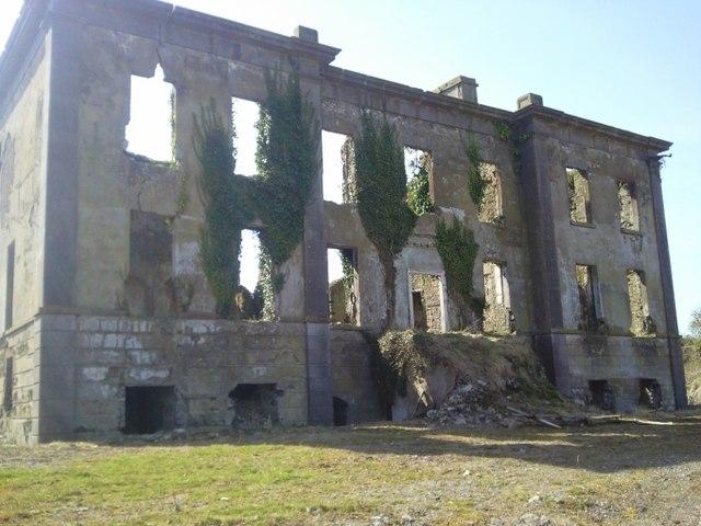 Westown House in ruins, Co Dublin