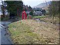 NY7801 : Telephone box, Outhgill by Maigheach-gheal