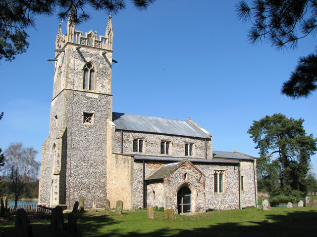 The church of St Mary in Narford