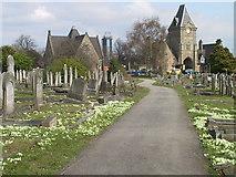 SK3736 : Cemetery Chapel, Nottingham Road Cemetery, Derby by Francis Dolman