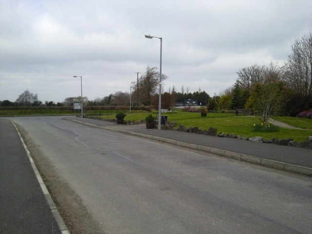 Road junction and small park, Kilcloon, Co Meath