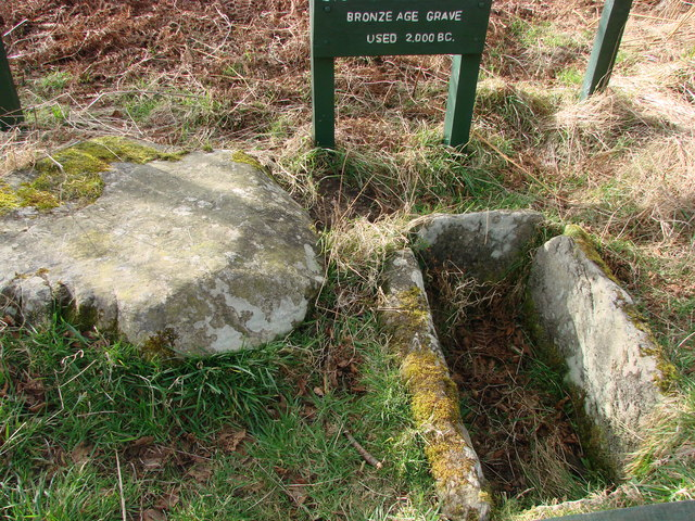Bronze age burial cist and capstone