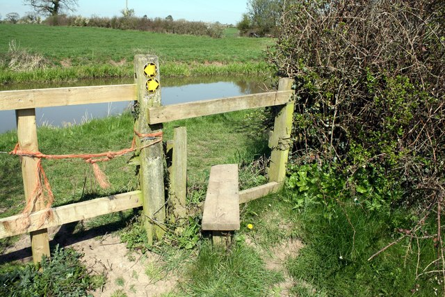 Stile by the Shropshire Union Canal