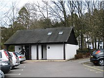NY3704 : Car park in Ambleside by Philip Barker