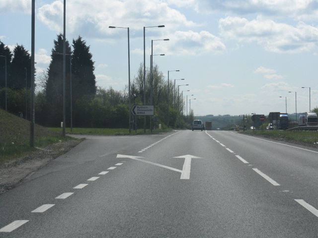 A14 at junction 15 (Bythorn exit)