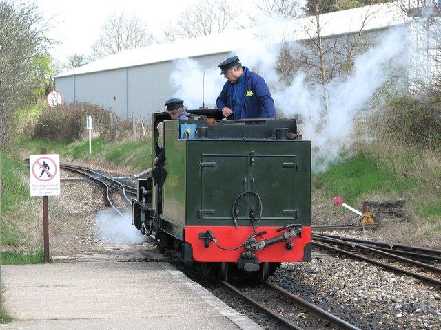'Spitfire' reversing to meet its train