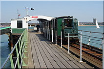 SU4208 : Train on Hythe Pier Railway, Hampshire by Peter Trimming