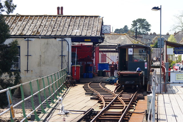 Train on Hythe Pier Railway, Hampshire