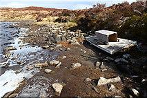 NN6968 : Mink 'Raft' on Loch Cruin by Calum McRoberts