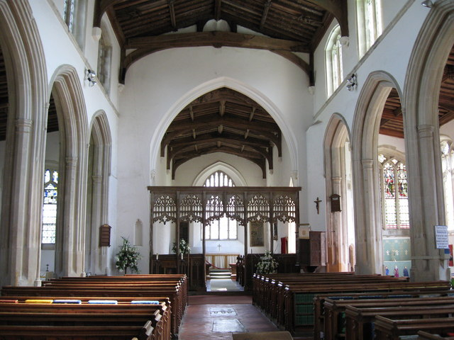 Interior of  St. Mary & St. Clement's church,  Clavering,  Essex