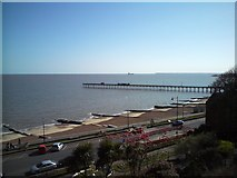 TM3034 : Felixstowe Pier and Shore line, the Orwell Estuary by Tim Marchant