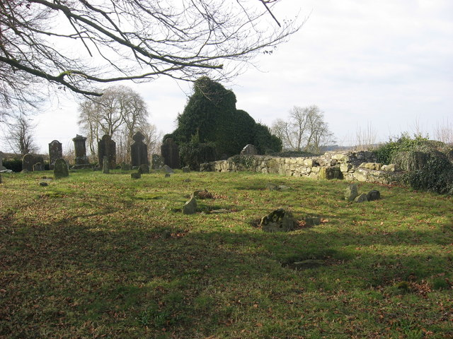 Church and graveyard at Stickillin, Co. Louth