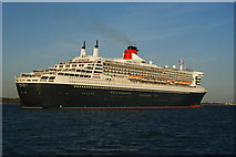 SU4208 : Queen Mary 2, Leaving Southampton (3) by Peter Trimming