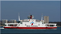 SU4208 : Red Funnel Ferry on Southampton Water, Hythe, Hampshire by Peter Trimming