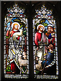 TF5617 : All Saints church in Tilney All Saints - stained glass by Evelyn Simak
