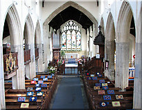 TF5002 : St Peter's church - view east from the west gallery by Evelyn Simak