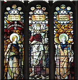 TF5002 : St Peter's church - stained glass window by Evelyn Simak