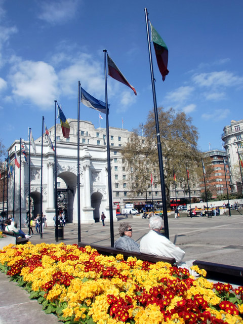 Flowerbed, Marble Arch, London W1