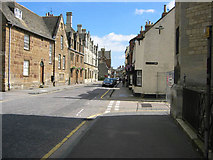 SP8699 : Looking east along High Street West, Uppingham by Kate Jewell