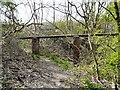 SJ9494 : Pipeline over Clough Fold by Gerald England