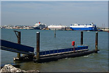 SU4208 : Pier at Hythe Marina, Hampshire by Peter Trimming