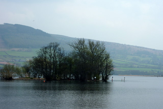 Crannog on Llangorse Lake