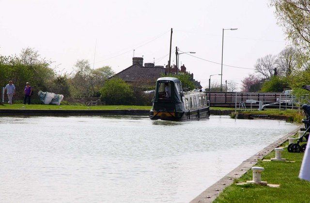 Entering a lock on the Kennet and Avon canal