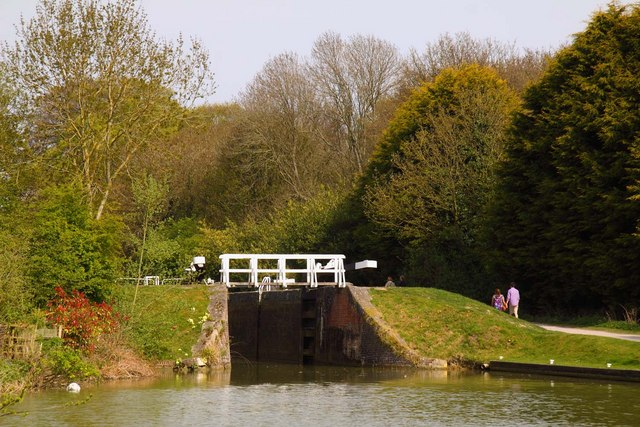 Trust Lock on the Kennet and Avon Canal at Devizes