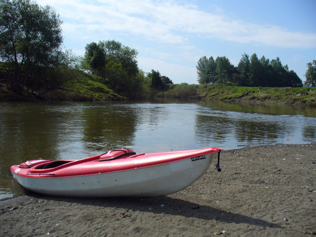 Kayak on the Banks of The River Severn