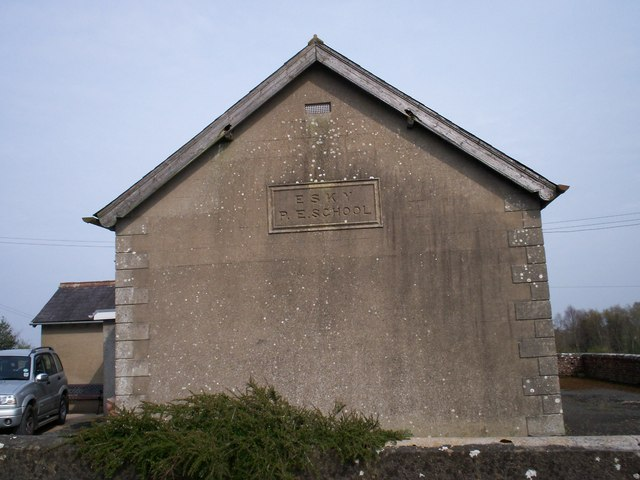 Gable wall of former Esky P E School, Bannfoot Road