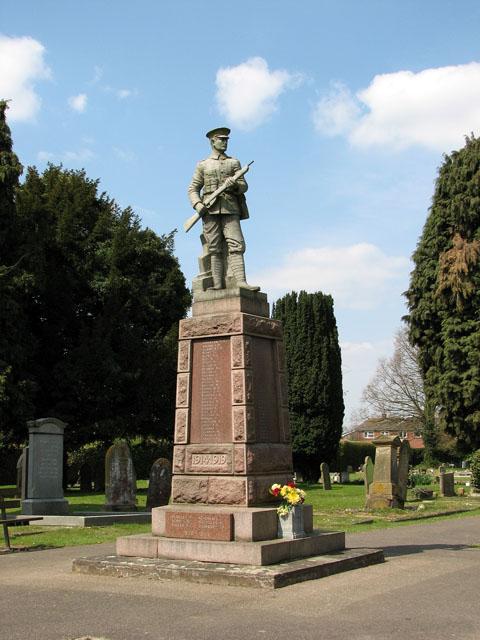 War memorial in the churchyard of All Saints, Walsoken