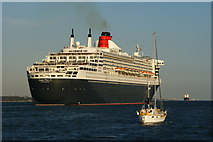 SU4208 : Magic Time and Queen Mary 2, Hythe, Hampshire by Peter Trimming
