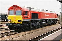 SU5290 : Didcot Station, Stabled locomotive by Roger Templeman