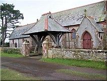 NY0900 : Lych gate, St Peter's Church by Maigheach-gheal