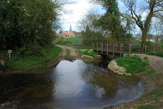 Ford and Footbridge at Little Bytham