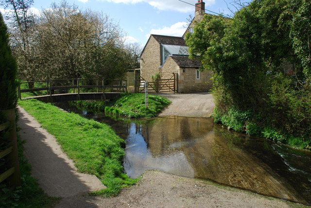 Ford and Footbridge Church Lane, Little Bytham