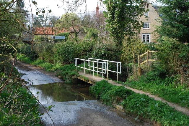 Ford and Footbridge at Folkingham