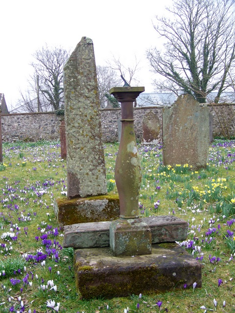 High Cross and Sundial, St John's Church, Hall Waberthwaite