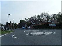 SJ6926 : Hinstock Post Office and mini-roundabout by Colin Pyle
