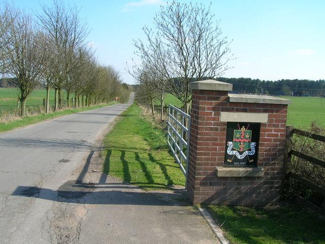 Track to Hollinwell Golf Club