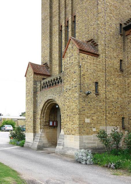 St Augustine of Canterbury, Hospital Bridge Road, Whitten, London TW2 6DE - Porch
