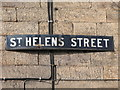 NY9864 : Sign for St. Helen's Street by Mike Quinn
