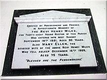 SM9533 : Memorial to former rector by ceridwen