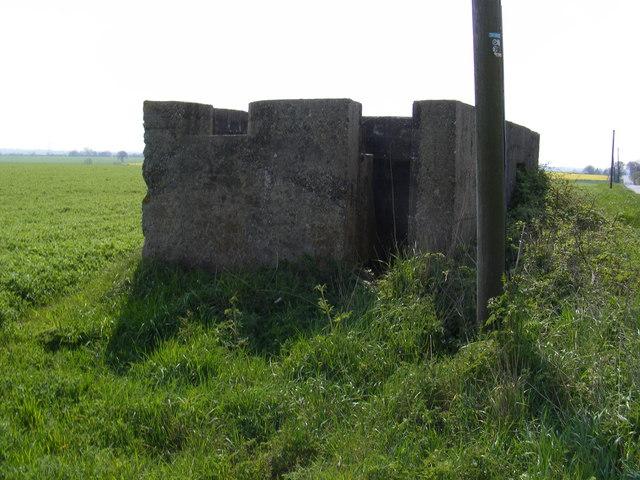 Pillbox on the A1120 Mill Hill, Earl Soham