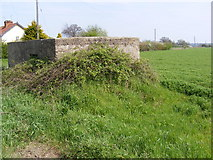 TM2262 : Pillbox on the A1120 Mill Hill, Earl Soham by Adrian Cable