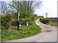 TM1659 : Footpath to Pettaugh Lane & entrance to Pettaugh Hall by Adrian Cable