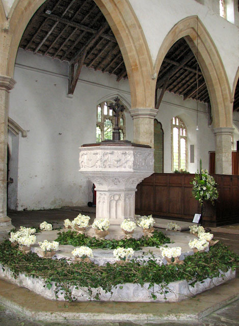 St John's church - C18 baptismal font